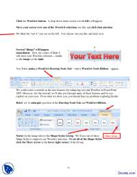 Word Art and Formatting-Using Powerpoint-Handout