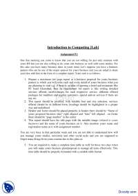 Business Proposal-Introduction to Computing-Assignment