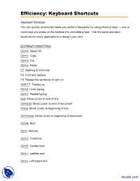 Keyboard Shortcuts-Office-Lecture Handout