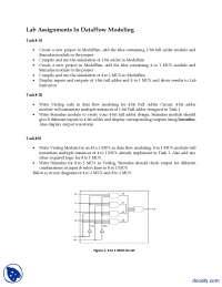 DataFlow Modeling-Verilog HDL-Assignment