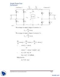 Single Phase Dual Converters-Power Electronics-Lecture Handout