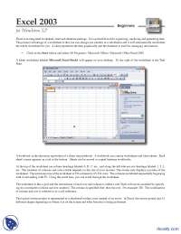 Parts of the Worksheet-MS Excel
