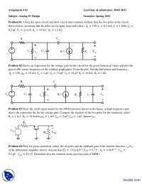Transistor Models-Analogue IC Design-Assignment