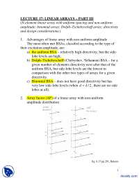 Linear Array Theory Part 3-Advance Anteena Theory-Lecture Handout