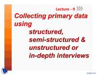 Interviews-Advanced Research Methods-Lecture Slides