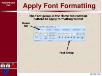 Apply Font Formatting-Ms Office-Lecture Slides