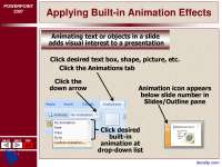 Applying Built in Animation Effects-Ms Office-Lecture Slides