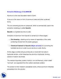 Extractive Meatallurgy-Matallurgy-Lecture Handout