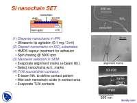 Si Nanochain SET-Microfabrication-Lecture Slides