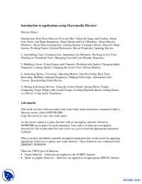 Macromedia Director-Multimedia Applications-Lecture Handout