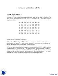 JPEG Encoder Part 2-Multimedia Applications-Assignment
