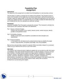Feasibility Plan Assignment-Entrepreneurship-Lecture Slides
