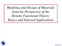 Condensed Matter Physics-Material Processing Seminar-Lecture Slides