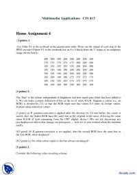 JPEG Encoder Part 1-Multimedia Applications-Assignment