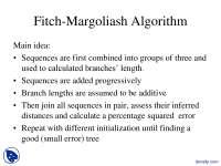 Fitch-Margoliash Algorithm-Molecular Polygenetic-Lecture Slides