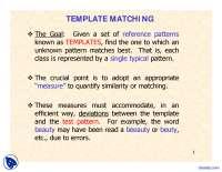 Templete Matching-Computational Intelligence-Lecture Slides