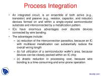Process Integration-Microfabrication-Lecture Slides