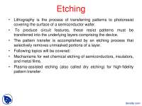Etching-Microfabrication-Lecture Slides