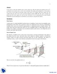 Inverse Square Law-Physics-Lab Report