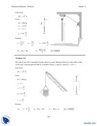 Pulley System Type Problems Part 1-Engineering Mechanics-Assignment Solution