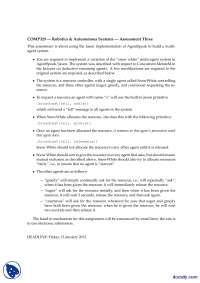 Jason Implementation of AgentSpeak-Robotics and Autonomous Systems-Assignment