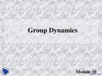 Group Dynamics-Communication Skills-Lecture Slides