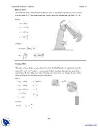Angular Velocity Problems-Dynamics-Assignment Solution