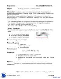 Inductor Experiment-Physics-Lab Mannual