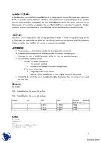 Markov Chain-System Engineering-Lab Report