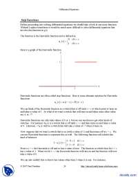 Step Functions-Differential Equations and Transforms-Handout