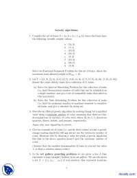 Greedy Algorithms-Complexity of Algorithms-Assignment