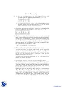 Dynamic Programming Exercises-Theory of Complexity and Algorithms-Assignment