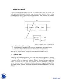 Adaptive Control-Adaptive Filteration-Lecture Notes