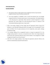Managment Functions-Princple of Mangment-Assignment