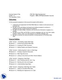 Web Development-Business Administration-Course Outline
