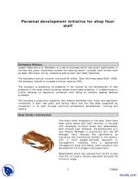 Personal Development Initiative Case Study-Human Resource-Handout