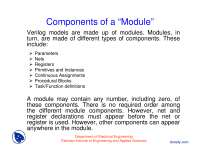 Components of a Module-Verilog and HDL-Lecture Slides