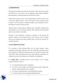 Aluminum-Non Ferous Metallurgy-Lecture Handout
