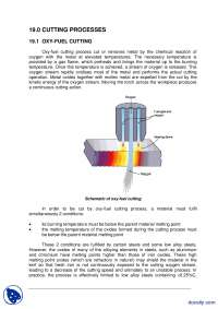 Cutting Process-Welding Technology Inspection-Lecture Handout