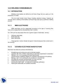 Welding Consumables-Welding Inspection Technology-Lecture Handout
