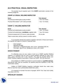 Practical Vision Inspection-Welding Inspection Technology-Lecture Handout