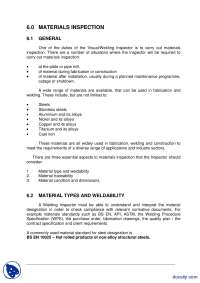 Materials Inspection-Welding Technology Inspection-Lecture Handout