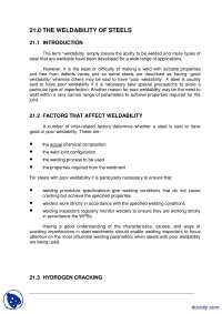 The Weldability of Steel-Welding Inspection Technology-Lecture Handout