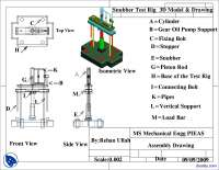 Snubber Test Rig 3D Model Detail III-Modified Engineering Drawing-Lecture Handout