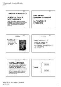 Slides di Istituzioni Di Diritto Privato - La filiazione e l'adozione - Famiglia e successioni