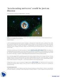 Accelerating Universe-Advanced Quantum Mechanics-Lecture Handout