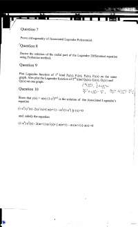 Legender's Polynomial-Mathematical Physics-Assignment