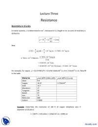 Resistance Part 2-Fundementals of Electronics-Lecture Slides