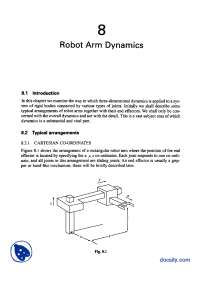 Robot Arm Dynamics-Advanced Engineering Dynamics-Lecture Handout