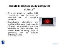 Computer Science for Biologists-Computational Biology-Lecture Slides